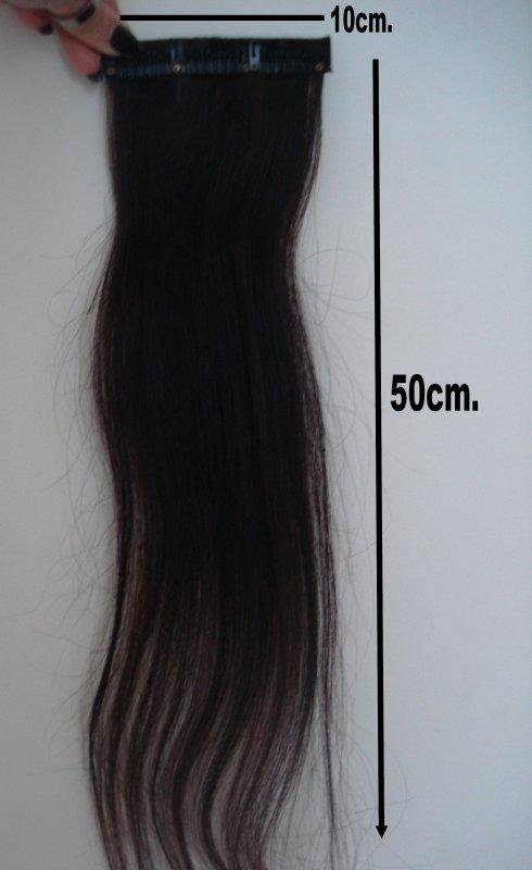 Extensions Châtain foncé. 10cm de largeur & 50cm de longueur . Neuve.