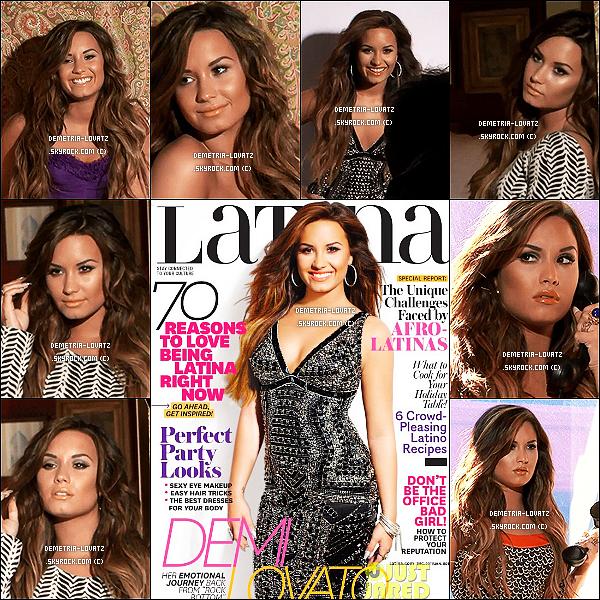 Demi Lovato a fait la couverture du magazine américain «Latina» du mois de Décembre/Janvier. Dans ce numéro, la très belle Demi nous confie ses problèmes, ses projets, ses rêves de carrière et aussi son séjour en cure...