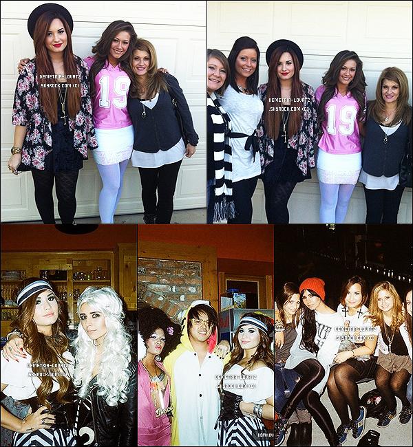 Demi a fêté Thanksgiving avec des amies et sa famille. + Des photos persos de D. pendant une soirée d'Halloween.Demi Lovato a récemment revu Logan Henderson, un ami de longue date.. Elle a posté une photo accompagnée d'un message.