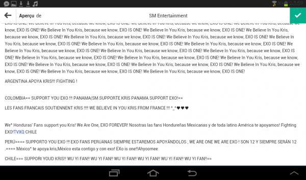 Les fans du monde entier soutiennent Kris !!! ♥♥
