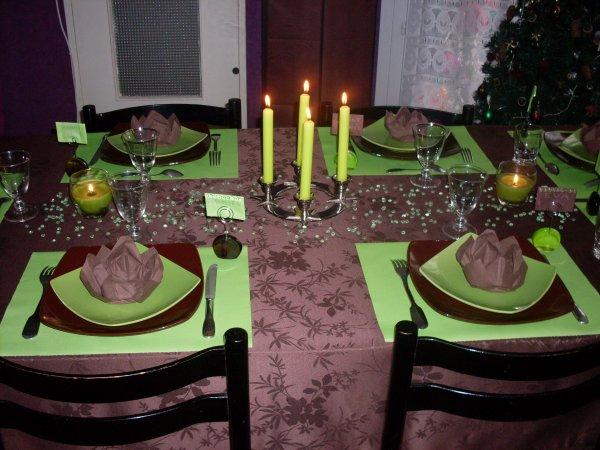 Table pour la nouvelle année 2012