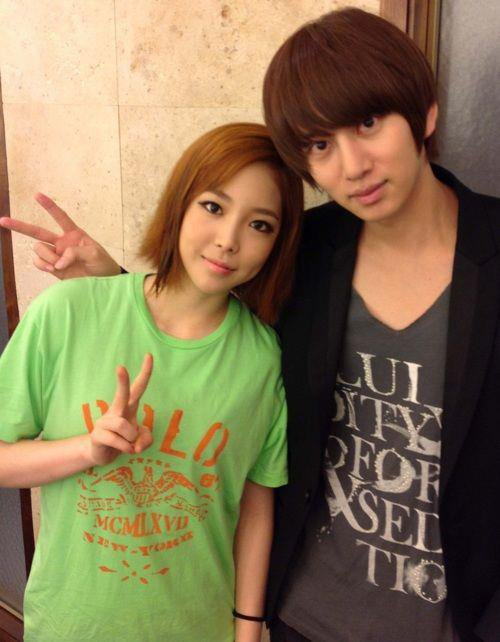 ujin et heechul des super junior !