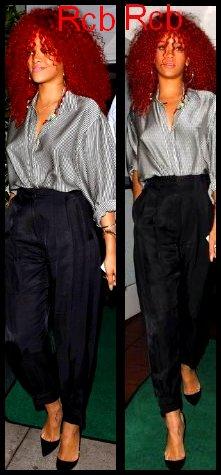 Rihanna a était vue  au restaurant « Giorgio Baldi » a L.A ; Ou elle avait diner avec ses amis