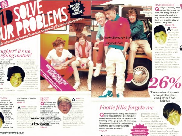 "One Direction apparait dans le magasine "" WeLovePop """