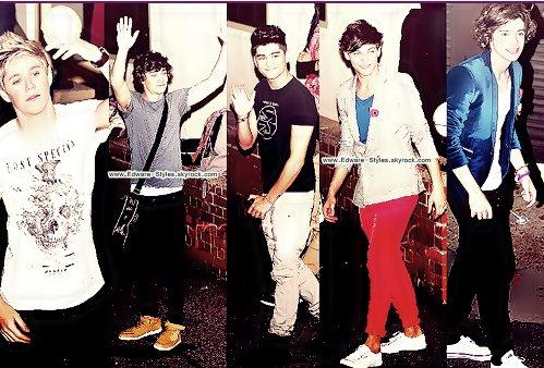 Harry et Louis ont été vue en sortant d'un studio à Londres.