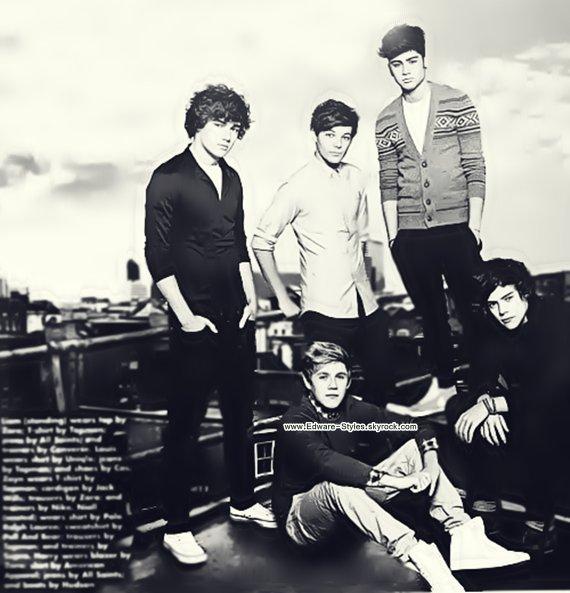 Trois belle photoschoops des One Direction, apparait dans un magasine.