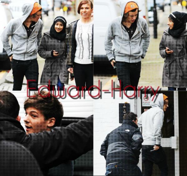 08.01 - Les One Direction arrivent au studio de Londres.