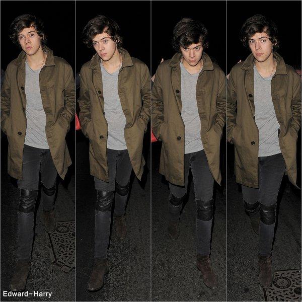 19.02 - Harry à été vue pendant les répétitions des Brit Awards 2013.