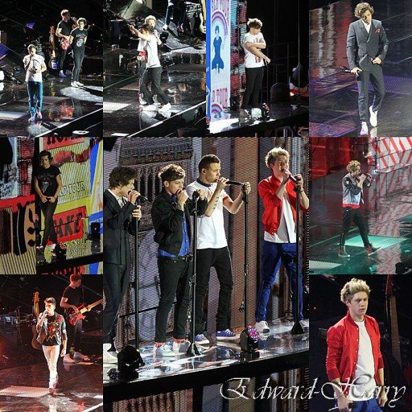 23.02 - ( Aujourd'hui ) Les Garçons ont donné leur 1er concert de TMHT à Arena, Londres.