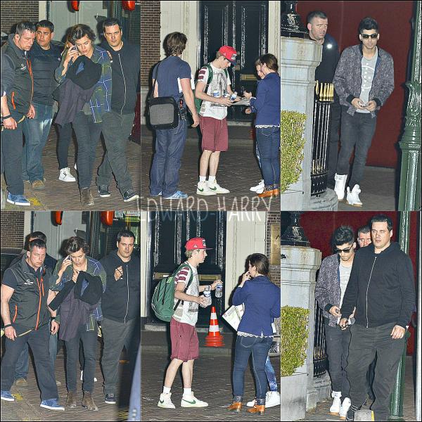 30.05 - Les One Direction arrivent à leurs hôtel à Netherlands.