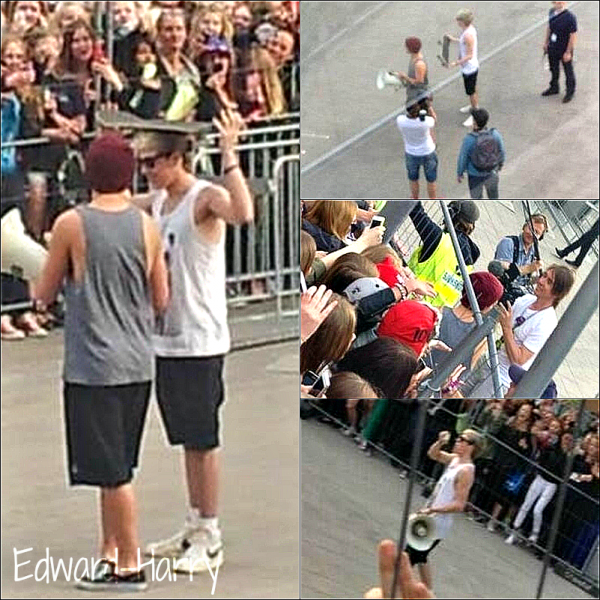08.05 - Louis et Niall ont été vue devant l'hôtel de Friends Arena de Solna, en Suède