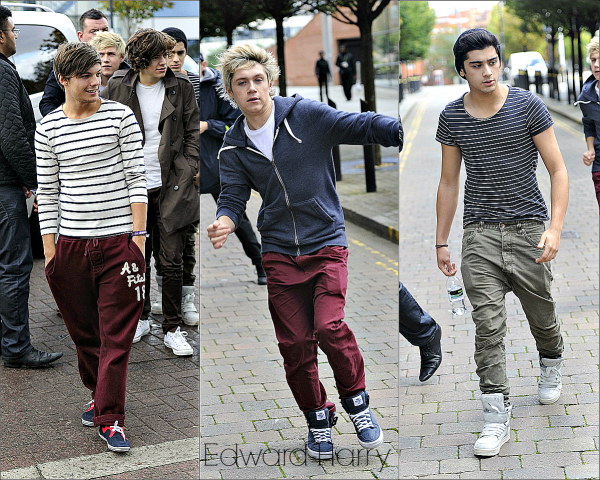 13.09.11 - Les One Direction arrive à la Radio de Manchester.