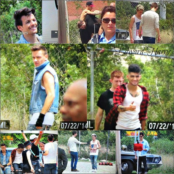 Les One Direction ont été vue un set pour des photoshoot.