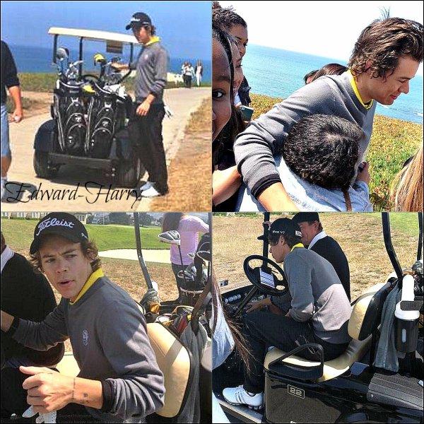 Harry à été vue un instant entrain de faire du golf (30.07)