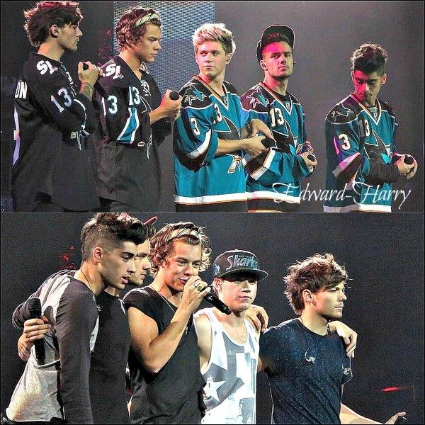 30.07 - Les One Direction faisant un concert à San Jose.