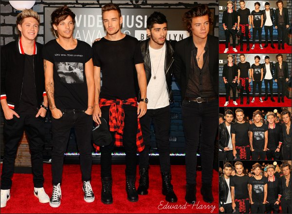 25.08 - Les One Direction au MTV MUSIC VIDEO AWARDS 2013.