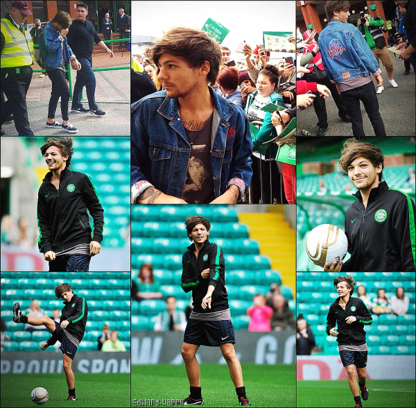 08.09 - Louis à son match de foot pour une association au Celtic Park.