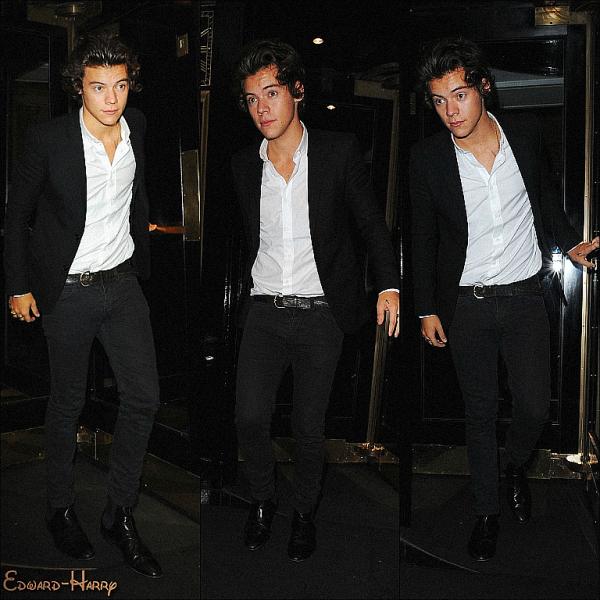 17.09 - Harry à été vue en quittant son hotel à Londres pour l'anniversaire de Pixie Geldof's.