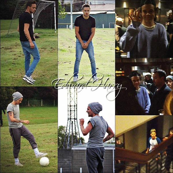 10.10 - Louis et Liam ont été vue faisant sur foot à Christchurch en Nouvelle Zealand + Le soir même Harry et Niall ont été vue à leurs hôtel.