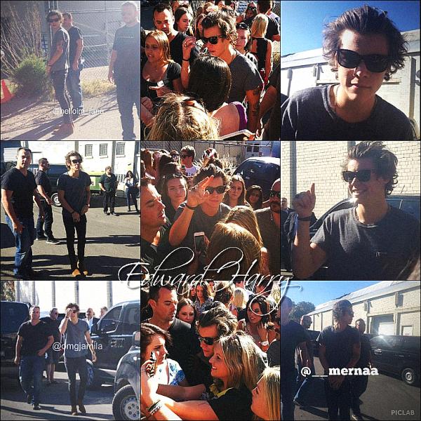 24.10 - Les One Direction ont été vue en arrivant devant l'aréna à Sydney en Australie + Concert.