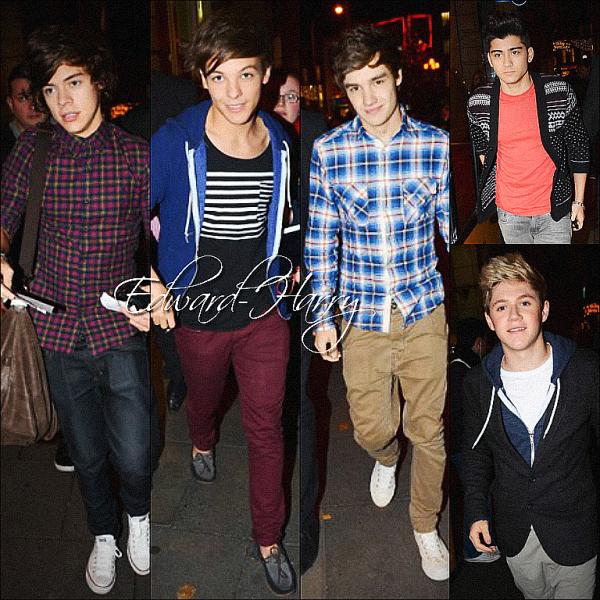 Article flash-back : 30.04.2011 - Les One Direction ont été vue en arrivant au studio de Londres.