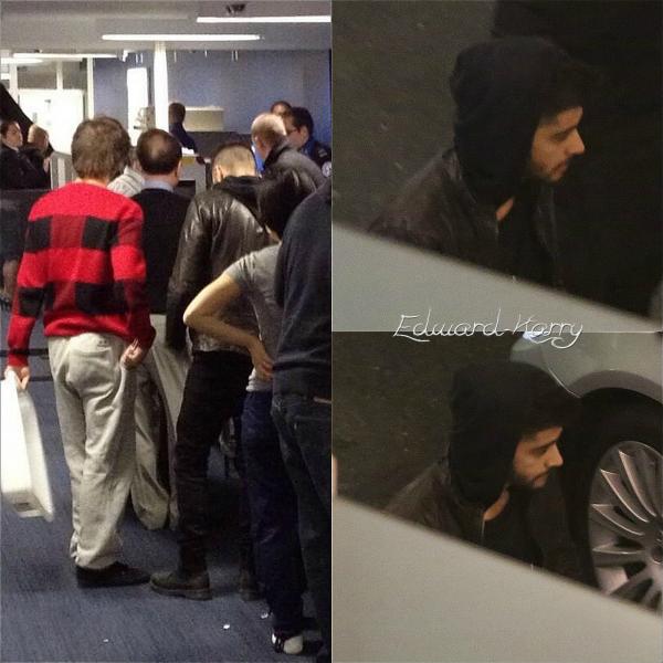 07.12 - Zayn et Louis ont été vue à l'aéroport de Heathrow à Londres.