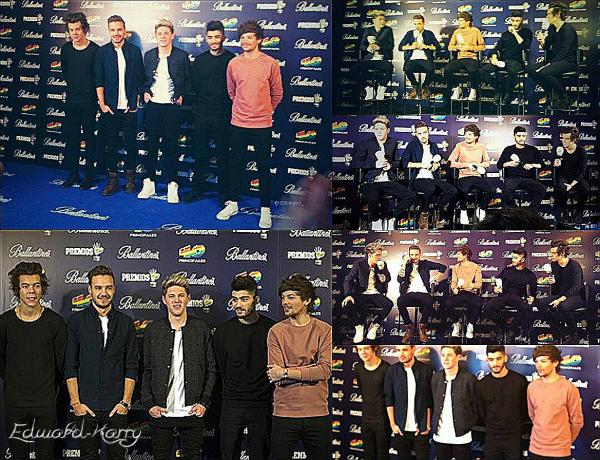 10.12 - Les One Direction ont été vue en arrivant à l'aéroport de Madrid.