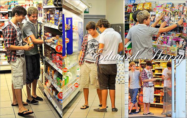 Flash-Back : 11.11.2010 - Harry, Louis et Niall ont été dans un super marché faisant quelques courses  à Londres.
