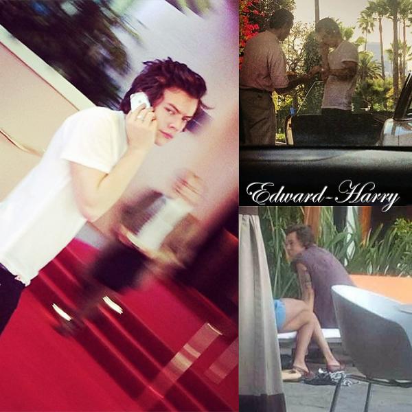 16.01 - Harry à été vue à son hôtel à plusieurs reprises à L.A.