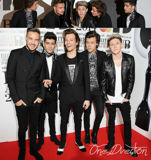 19.02 - Les One Direction au Brits Awards 2014
