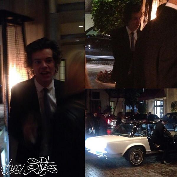 02.03 - Harry à été vue en arrivant à la première partie des Oscar à L.A.