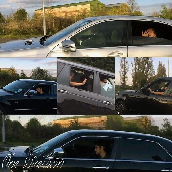 12.04 - Zayn, Harry et Liam ont été vue en arrivant aux répétitions du WWAT.