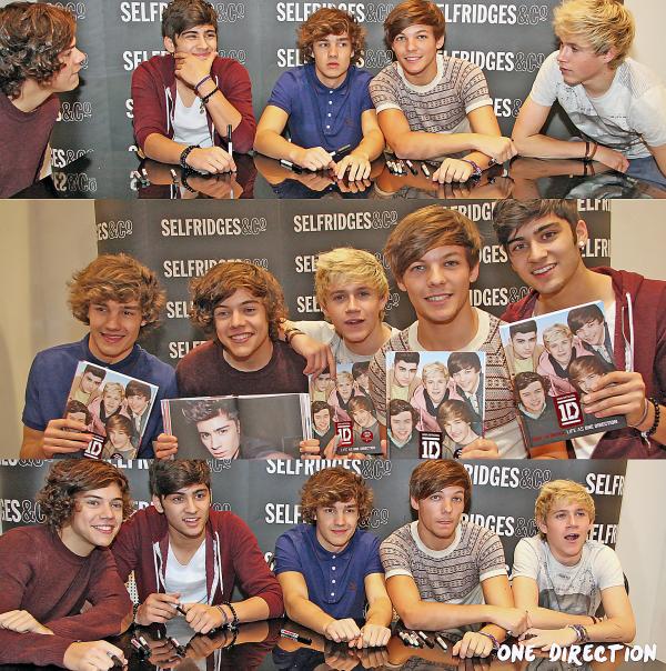 Flash-Back - 17.09.2011 - Les One Direction signant des dédicaces pour un de leurs livre à Londres.