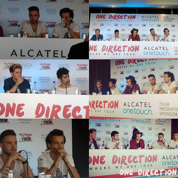 24.04 - Les One Direction aux répétitions dans le stade à Bogota en Colombie.