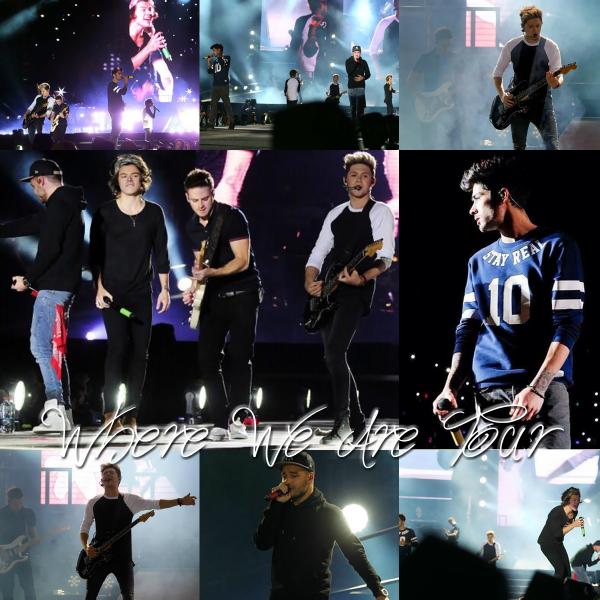 30.04 - Les One Direction interprétant leurs troisième concert pour tournée le Where We Are Tour au stade Santiago au Chili.