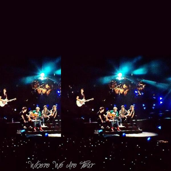 03.05 - Les One Direction interprétant leurs cinquième concert pour tournée le Where We Are Tour au stade Buenos Aires en Argentine.