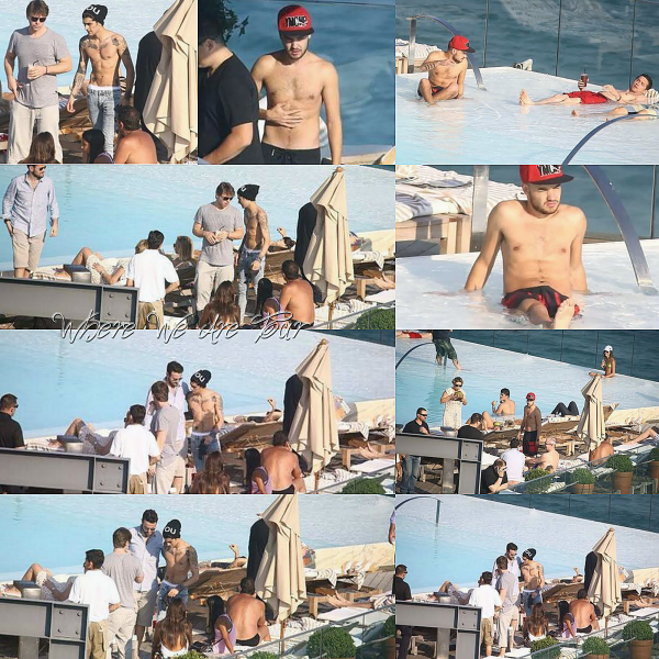 Aujourd'hui Liam, Zayn et Harry ont été vue au bort de la piscine leurs hôtel à Rio.