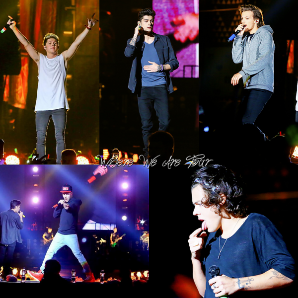 08.05 - Les One Direction interprétant leurs huitième concert pour tournée le Where We Are Tour au stade à Rio de Joneiro. .
