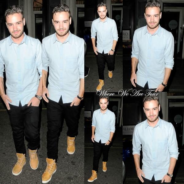 18.05 - Liam à été vue en quittant la boite Mahiki à Londres.
