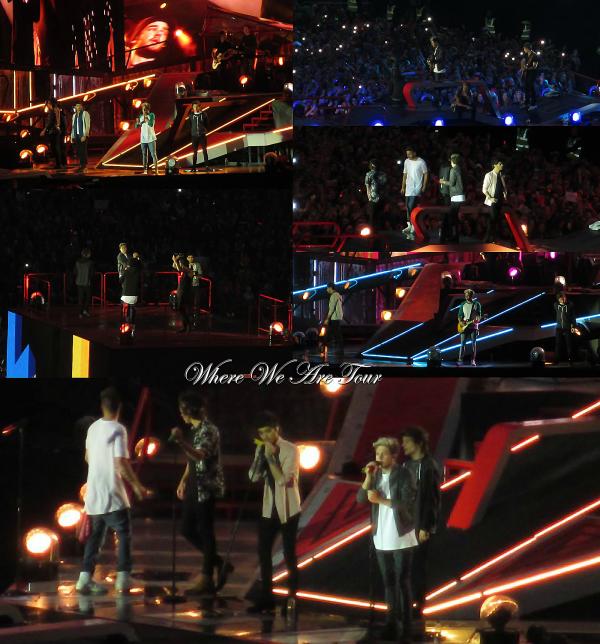 24.05 - Les One Direction interprétant leurs douzième concert pour tournée le Where We Are Tour au stade de Croke Parck en Irlande..