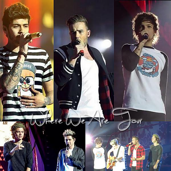 30.05 - Les One Direction interprétant leurs quinzième concert pour tournée le Where We Are Tour au stade de Manchester au Royaume-uni.