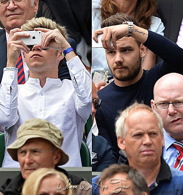 26.06 - Niall et Liam ont été vue à un match de tennis à Wimbledon.