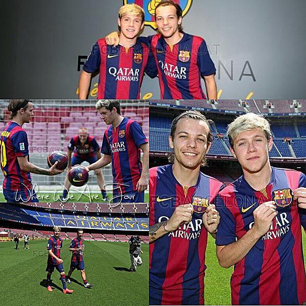 08.07 - Niall et Louis ont été au Camp Nao à Barcelone.