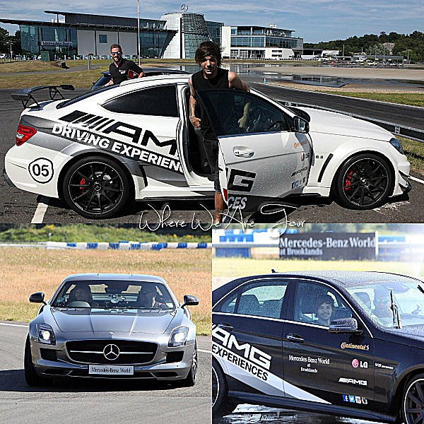 18.07 - Louis à été à une expérience de conduite AMG chez Mercedes-Benz World à Weybridge en Angleterre.