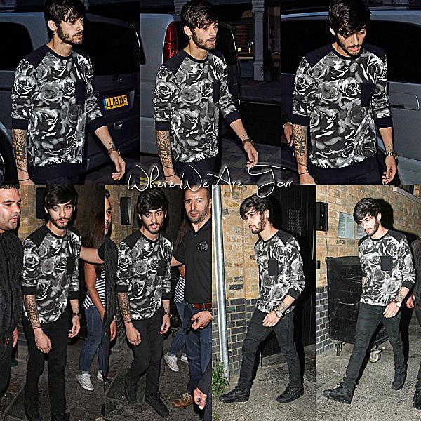 31.07 - Zayn à été vue en arrivant dans le restaurant Chiltern Firehouse à Londres.