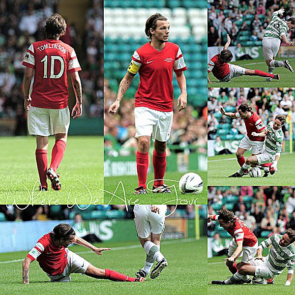 07.09 - Découvrez les photos de l'entrainement et du match de foot de charité de Louis.