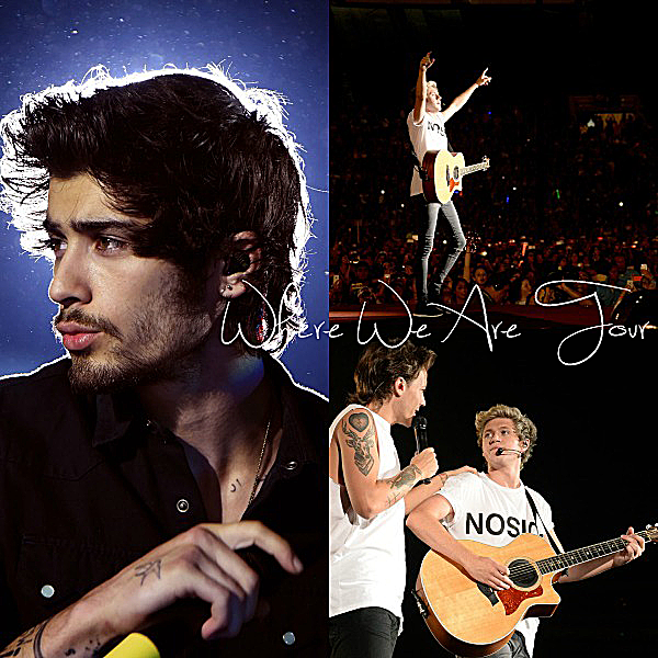 11.09 - Les One Direction interprétant leurs cinquante cinquième concert pour la tournée Where We Are au stade de Rose Bowl à Pasadena en Californie.