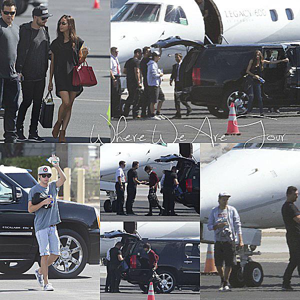 21.09 - Niall, Liam, Louis, Zayn, Sophia et Eleanor ont été vue en arrivant à l'aéroport de Las Vegas.
