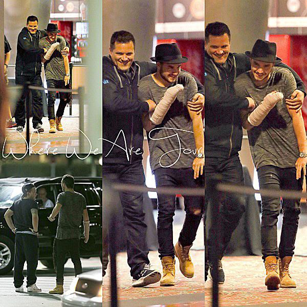 02.10 - - Liam à été vue sortant du cinéma en allant voir Annabelle à Tampa en Floride.