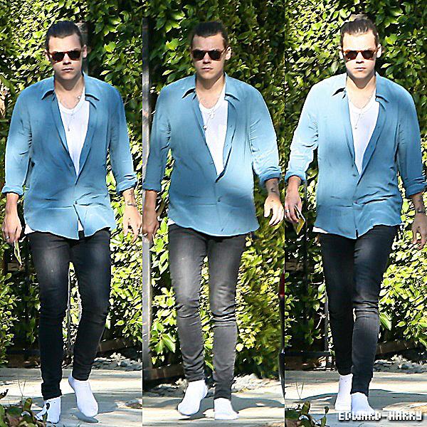 09.10 - Harry à été vue sortant d'une maison pour remettre un papier dans sa voiture à Beverly Hills.